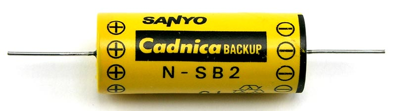 SAVMIK :: RECHARGEABLE 2 4V 90MAH BATTERY (SANYO CADNICA N-SB2